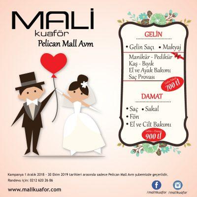 Mali Kuaför Pelican Mall Avm Gelin Paketi